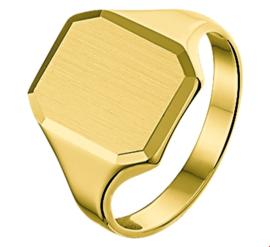 Zegelring van Goud met Gediamanteerde Achthoek