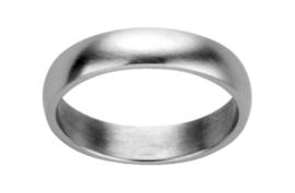Zilverkleurige Bolstaande Ring van Edelstaal van M&M