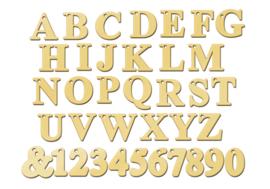 Goudkleurige Naamketting met Losse Letters van Zilver | Names4ever