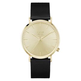 Goudkleurig KANE Horloge met Zwarte Milanese Horlogeband