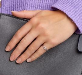 Zilveren Ring met Platte Knoop / 16,5mm