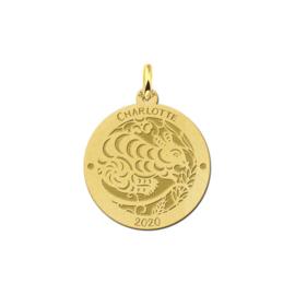 Ronde Chinese Sterrenbeeld Rat Hanger van Goud