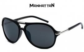Manhattan Zwart Frame Moderne Zonnebril