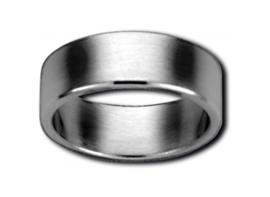 Brede Zilverkleurige Ring van Edelstaal van M&M