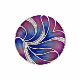 MY iMenso Blauw en Roze Emaille 33mm Insignia