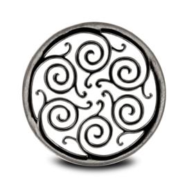 LOCKits Zilverkleurige Open Fantasie Patroon Munt 33mm