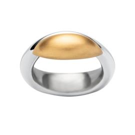 Abstracte Bicolor Ring van Edelstaal van M&M
