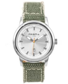 Kinderhorloge met Groene Canvas Horlogeband