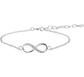 Zilveren Infinity Mini Armband met Zirkonia's