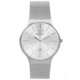 Zilverkleurig Heren Horloge met Milanese Horlogeband