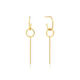 Goudkleurige Modern Solid Drop Earrings van Ania Haie