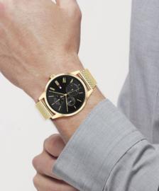 Tommy Hilfiger Heren Horloge met Goudkleurige Milanese Horlogeband