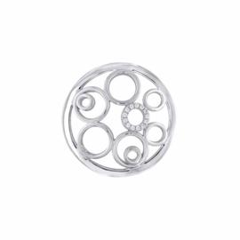 Zilverkleurige 24mm Insignia met Cirkels en Zirkonia's van MY iMenso