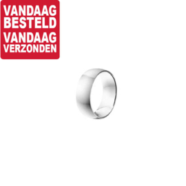 Bolle Brede Edelstalen Ring / Maat 19,7