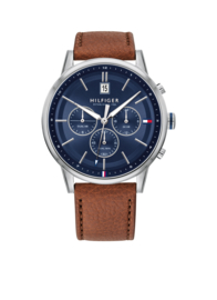 Horloge met Bruin Leder van Tommy Hilfiger TH1791629