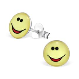 Smiley Oorbellen » Lachend Gezicht met Rode Mond