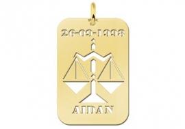 Names4ever Weegschaal Horoscoop Hanger in Goud GHS043