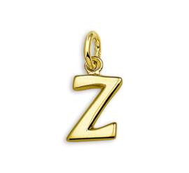 Gouden Letter Bedel Hanger – Z