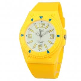 Geel Q&Q Horloge