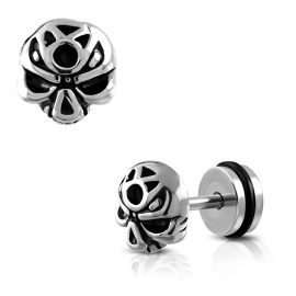 Schedel Imitatie Piercing met Rubberen Ring