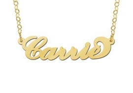 Names4ever Carrie Stijl Naamketting Goud