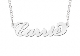 Names4ever Carrie Stijl Naamketting Zilver