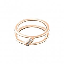 Roségoudkleurige Ring van Zilver met Zirkonia's van MY iMenso