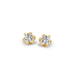 Basic Gouden Oorstekers met 0,10 crt. Diamant