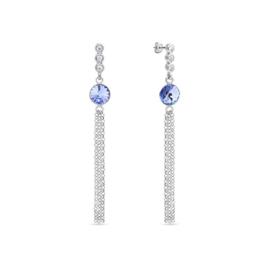 Spark Ballena Oorhangers met Blauwe Glaskristal