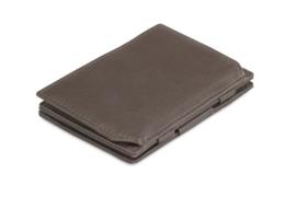Chocoladebruine Nappa Magic Coin Wallet Portemonnee van Essenziale Garzini