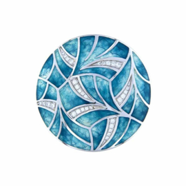 Turquoise Fantasy 33mm Emaille Insignia met Zirkonia's