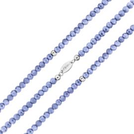 Zachtblauwe Facetgeslepen Kralen Rek Armband van MY iMenso
