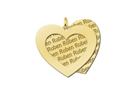 Names4ever Naampatroon Hartvormige Hanger GNH15