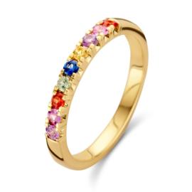 Excellent Jewelry Regenboog Saffier Gouden Ring