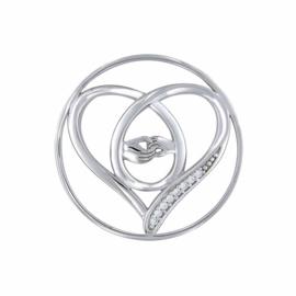 Zilveren Together in Love 33mm Insignia van MY iMenso
