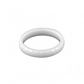 Witte Facetgeslepen Ring van Keramiek van MY iMenso