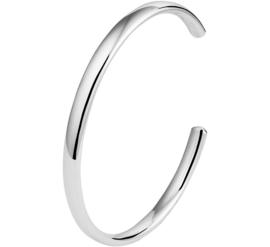 Spang Armband van Gepolijst Zilver