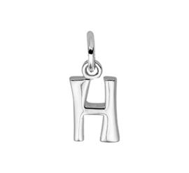 Gepolijste Zilveren Letter Bedel – H