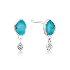 Turquoise Drop Stud Earrings van Ania Haie