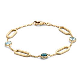 Excellent Jewelry Armband met Topaas en Opengewerkte Schakels