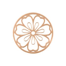Roségoudkleurige Cover Munt met Grote Bloem van MY iMenso