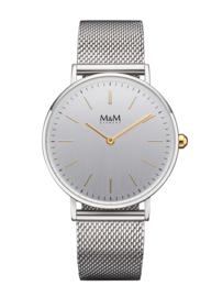 Zilverkleurig M&M Horloge voor Dames