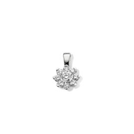 Excellent Jewelry Witgouden Hanger met 0,21 crt. Briljant