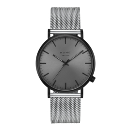 Zwart KANE Horloge met Zilverkleurige Milanese Horlogeband