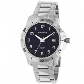 Prisma Heren Horloge 1736 Edelstaal 20 ATM Schroefkroon