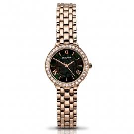 Sekonda Horloge SEK.2148 Dames Roségoud Strass