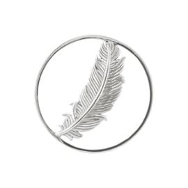Zilveren Cover Munt met Enkele Veer van MY iMenso