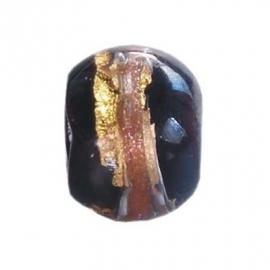 Zwarte Murano Bedel met Goud van BE iMenso 32/25