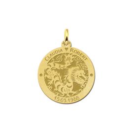 Ronde Chinese Sterrenbeeld Draak Hanger van Goud