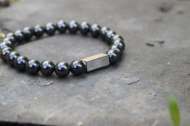 Essential Silver | Hematiet Kralen Armband van Blaauw Bloed